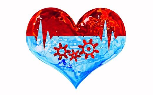cuore con ingranaggi che ricorda le red biotech